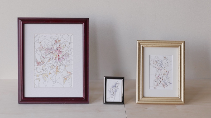 Three site-specific drawings