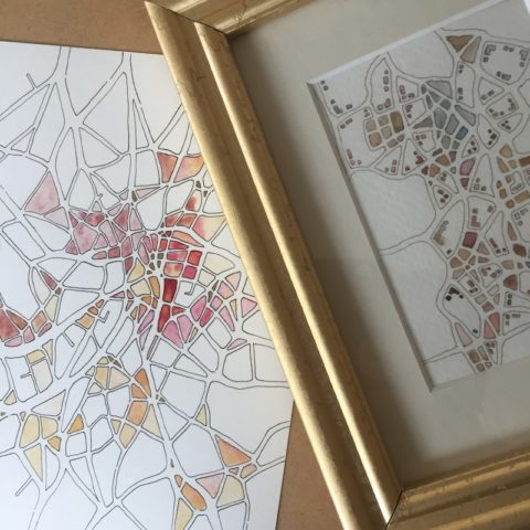 Two site-specific drawings